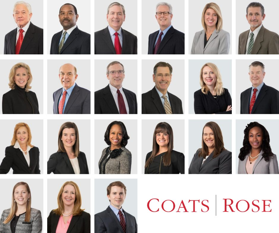 Coats Rose Attorneys Named to the 2021 Best Lawyers & Ones to Watch Lists