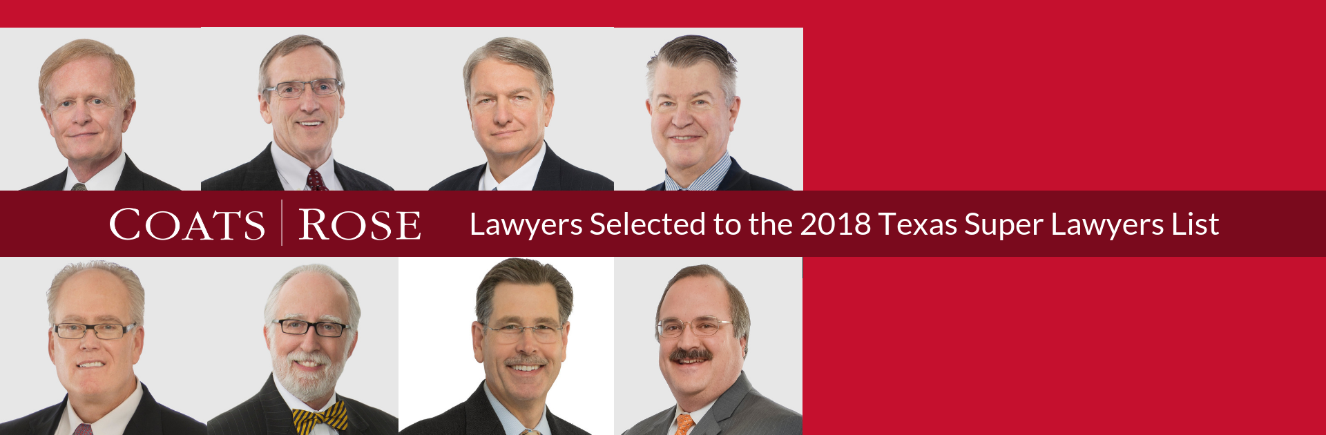 Eight Coats Rose Attorneys Named to 2018 Texas Super Lawyers List