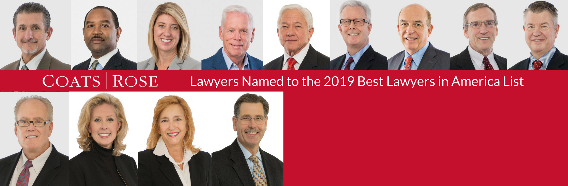 13 Coats Rose Attorneys Named to 2019 Best Lawyers in America© List Published by Woodward White Inc.