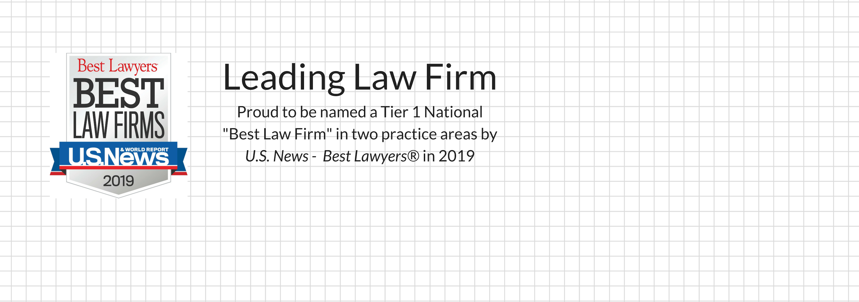 "Coats Rose Named a Tier 1 National ""Best Law Firm"" in Two Practice Areas by U.S. News – Best Lawyers® in 2019"